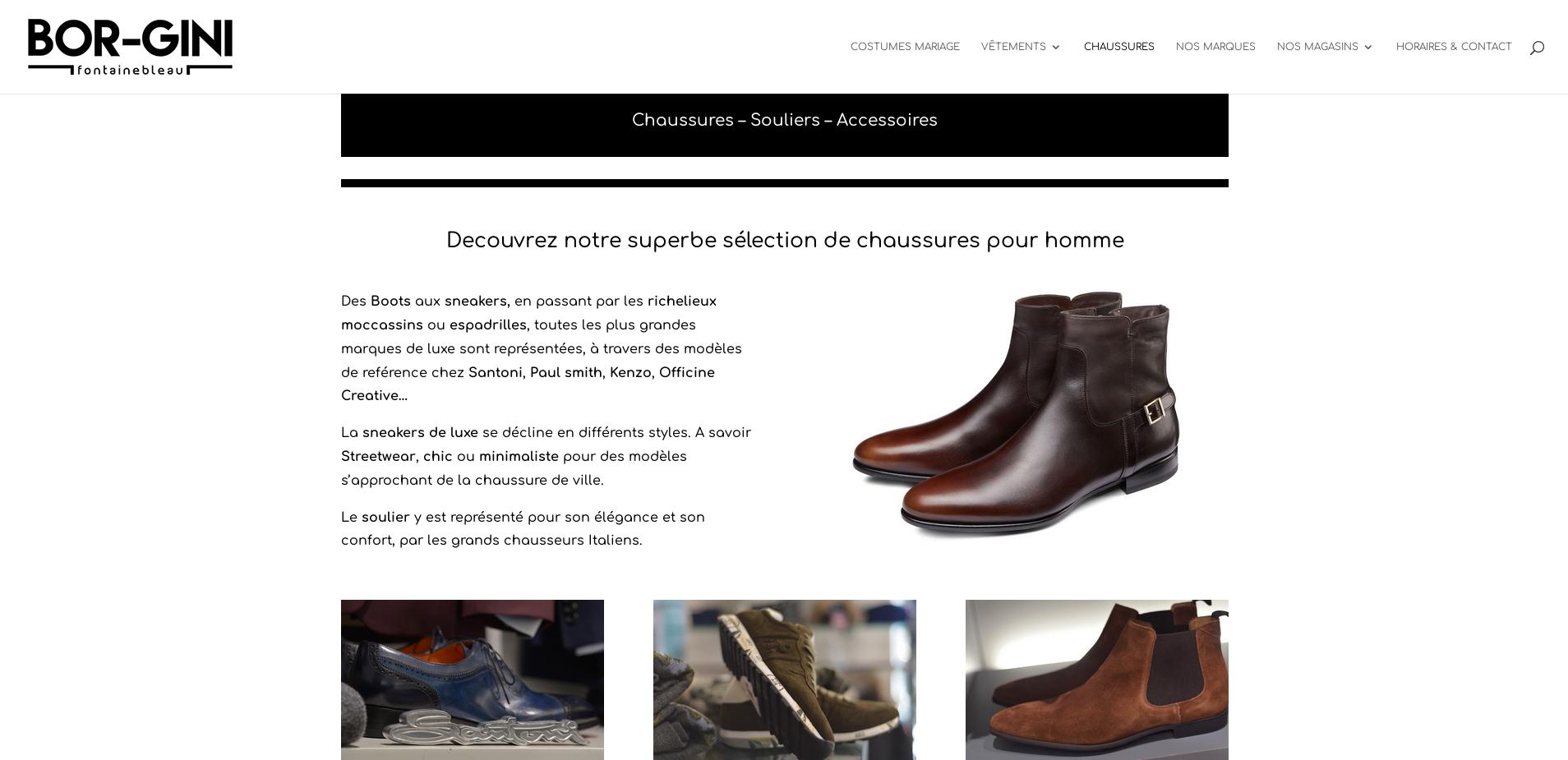 Réalisation de site internet vitrine, magasin de luxe
