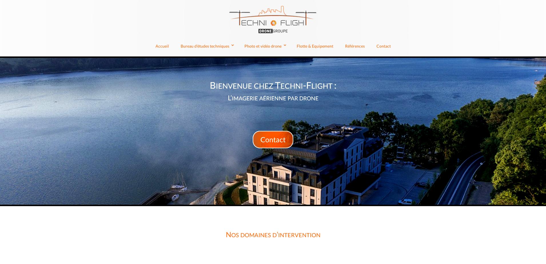 Réalisation de site internet vitrine, spécialiste drone